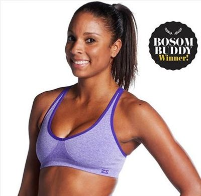 4dbc2977b9af0 Zensah Racey Running Sports Bra - in Heather Purple -- sexy ...