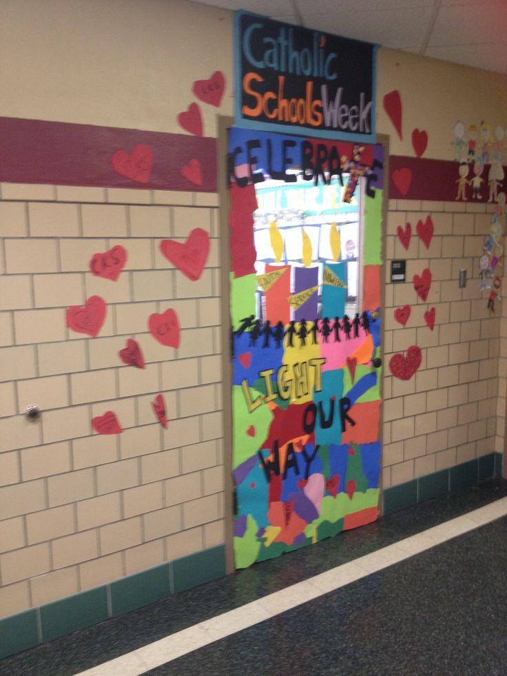 Door For Catholic Schools Week Classroom Door Crafts