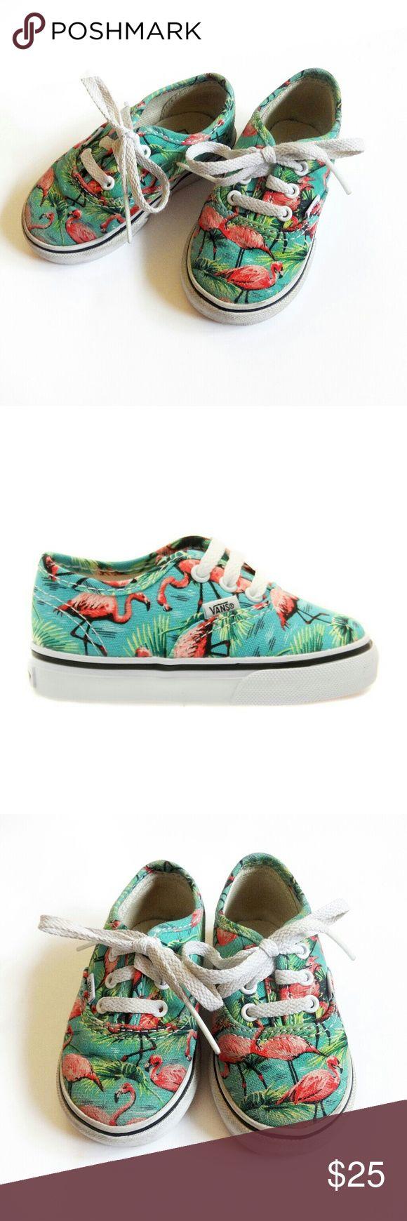 Flamingo Vans PRICE FIRM Bundle for discount! Excellent condition. Size 5 Toddler. Unisex! Vans Shoes Sneakers