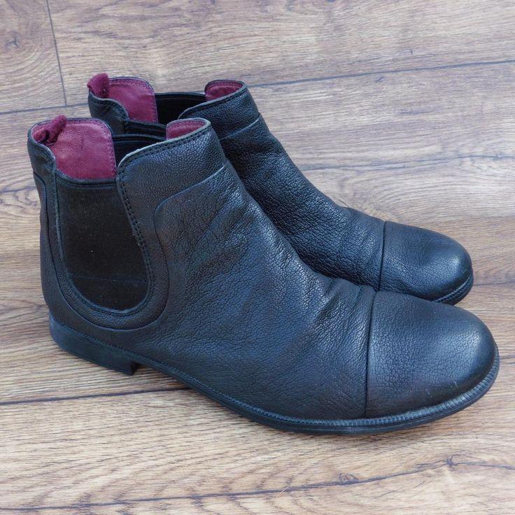 SIZE UK 7 CAMPER MIL 1913 MEN'S SUPER SOFT BLACK LEATHER CHELSEA BOOTS | eBay