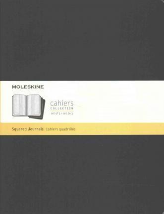 Moleskine Cahier Journal Extra Extra Large Squared Black : 9781223127194