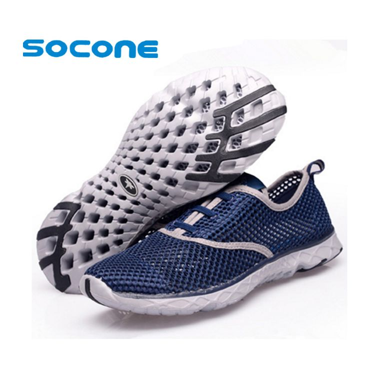 Socone Summer Running Shoes for Men Women Fasion Sneakers 2016 Mesh Breathable Sport Shoes Men Beach Water Shoes…