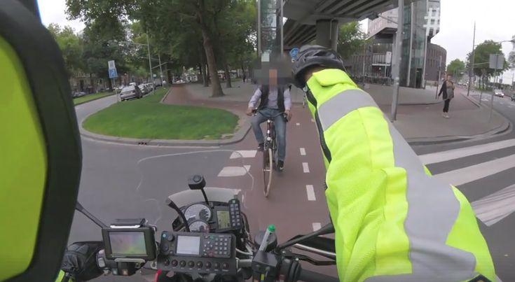 Politie Rotterdam betrapt fietsendief op heterdaad - Video te zien in dit artikel