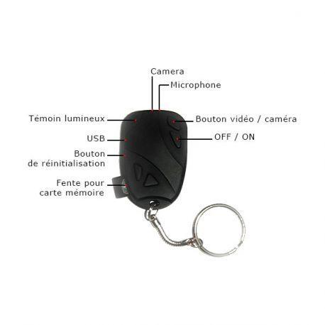 Porte-clés caméra haute résolution