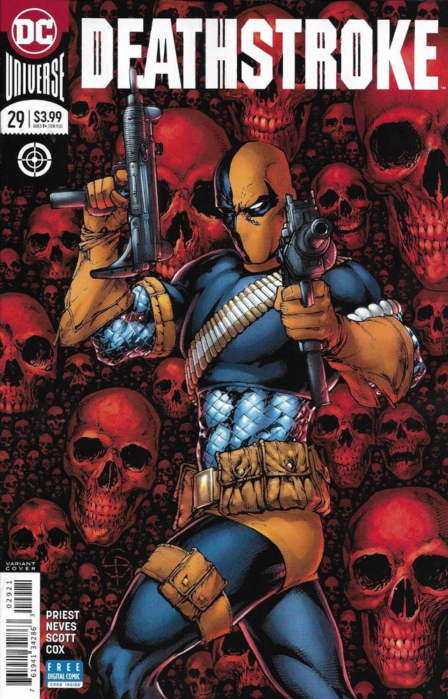 DC Deathstroke comic issue 29 Limited variant