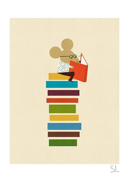 The library mouse by blancucha