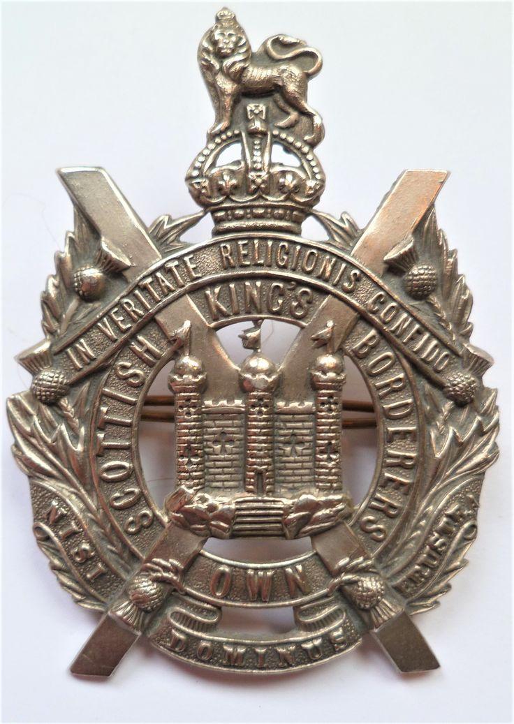 Kings Own Scottish Borderers Glengarry Cap Badge. British