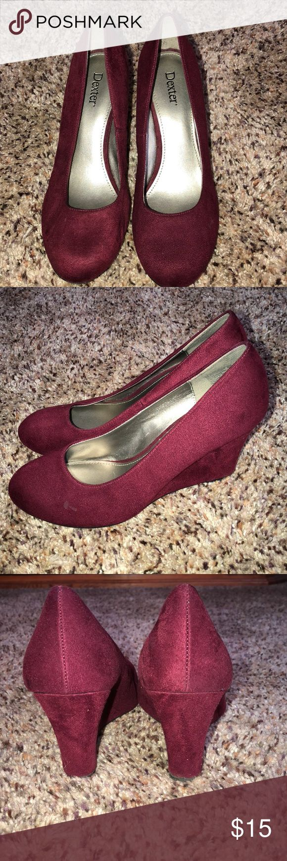 Red wedges Great condition red suede wedges Shoes Wedges