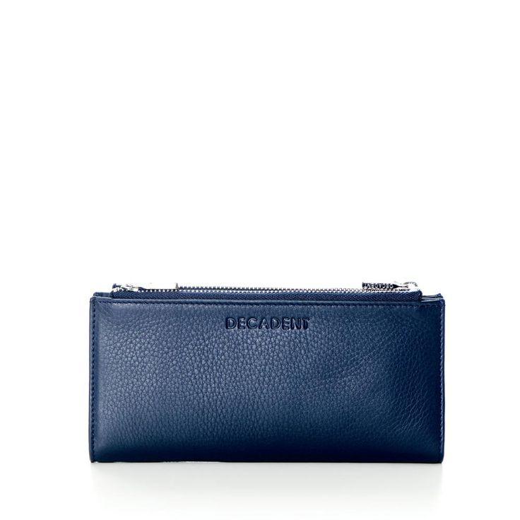 DECADENT 240 Two way large zip wallet Navy