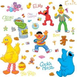 @Overstock - These colorful vinyl wall decals from RoomMates bring the classic fun of Sesame Street right to your child's room. RoomMates are perfect for bedrooms or nurseries because they can be removed without leaving a sticky residue.http://www.overstock.com/Baby/RoomMates-Sesame-Street-Peel-and-Stick-Wall-Decals/6700230/product.html?CID=214117 $14.99