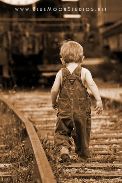 Working On The Railroad Boy In Overalls Playing On