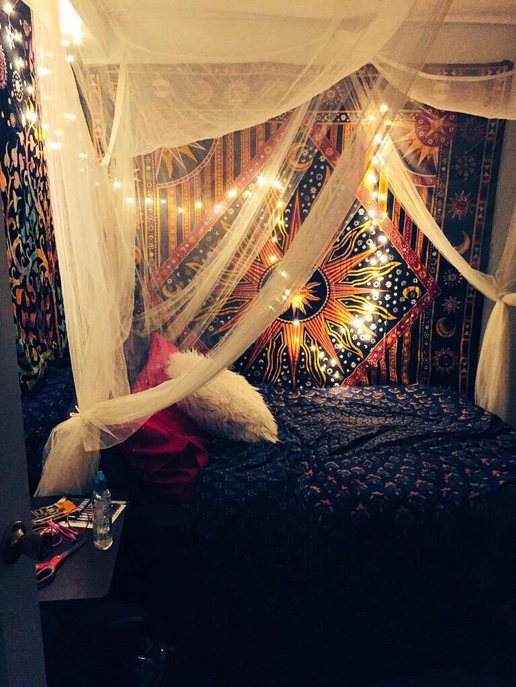 #bohemian #boho #trippy #bedroom
