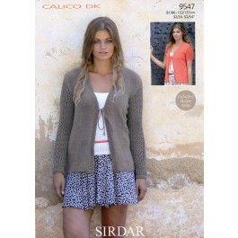 Cardigans+in+Sirdar+Calico+DK+(9547)+£2.99