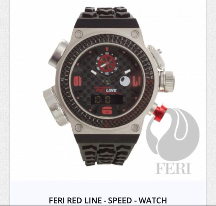 Red Line - Super Charger Watch by FERI.  www.gwtcorp.com/chiomzy