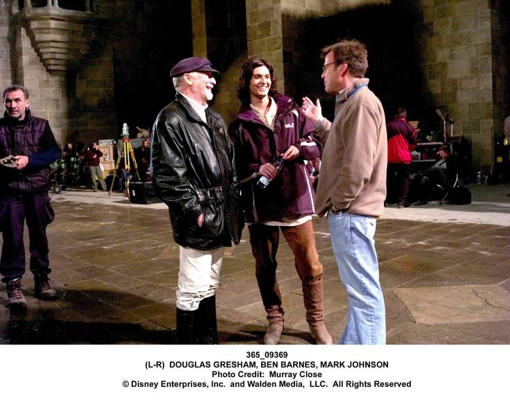 Ben Barnes and Douglas Gresham on set of Prince Caspian