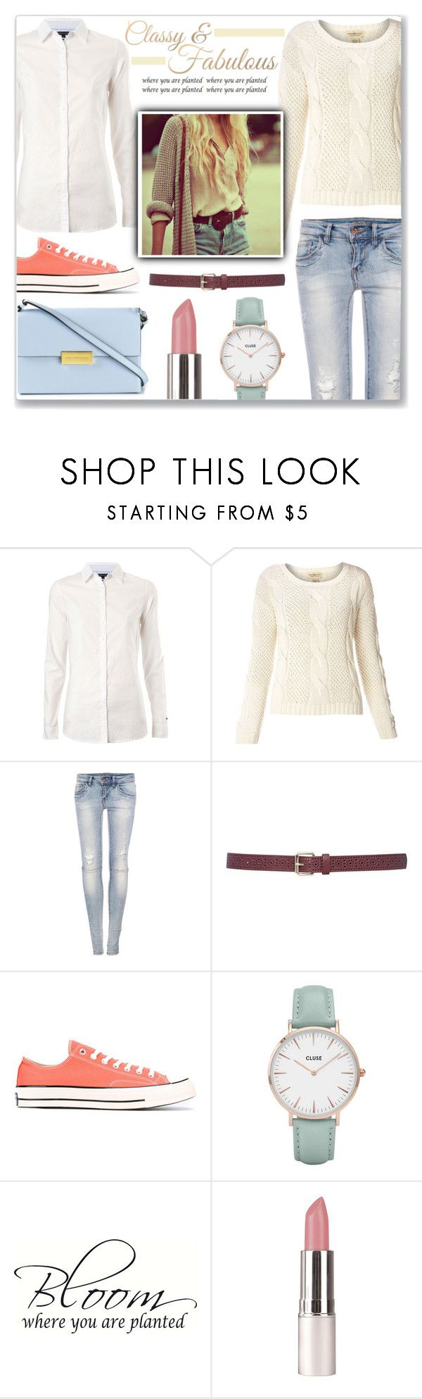 """""""OOTD - Outfit Of The Day #My Style"""" by asiyaoves ❤ liked on Polyvore featuring Tommy Hilfiger, Denim & Supply by Ralph Lauren, Pull&Bear, M&Co, Converse, CLUSE and STELLA McCARTNEY"""