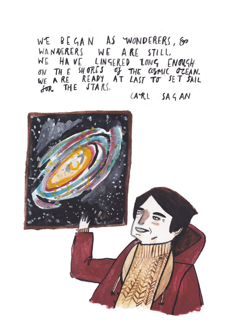 Carl Sagan by Dick Vincent Illustration