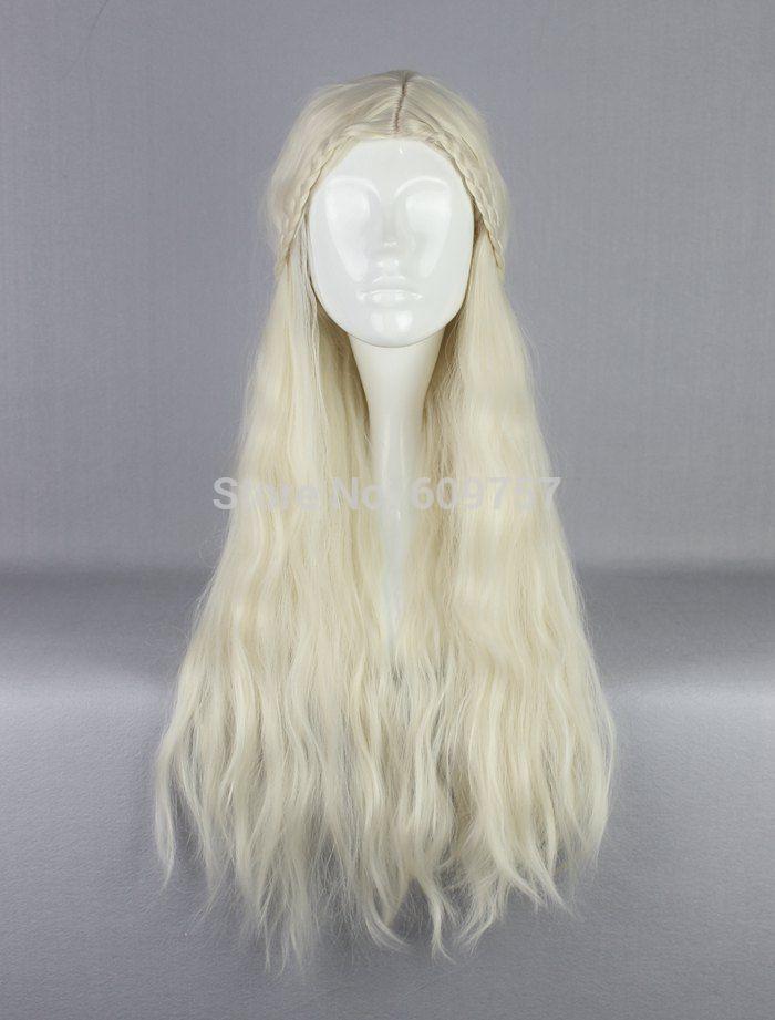 Daenerys Targaryen Dragon Princess Game of Thrones Braids cosplay wig No bangs kalon fibre no Lace Front Wigs Free deliver  //Price: $US $19.94 & FREE Shipping //     #asoiaf #gameofthrones #valarmorghulis #jonsnow #stark #lannister #daenerys #winteriscoming #targaryen #sansastark #khaleesi #robbstark  #khaldrogo #ayrastark