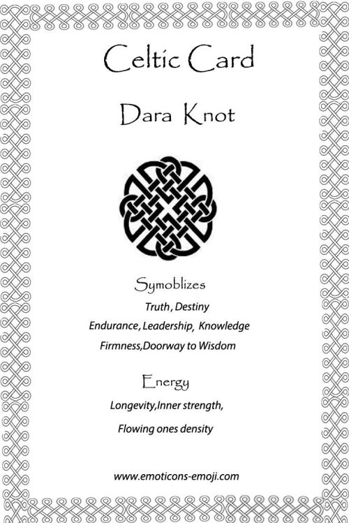 dara knot celtic card celtic symbols pinterest