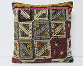 nursery decoration 18x18 couch pillow ethnic cushion cover boho throw pillow oversized throw pillow throw cushion kilim fabric cushion 20847