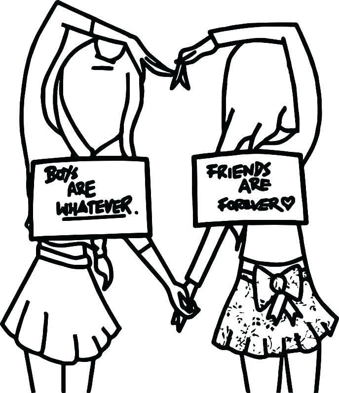 Free Cute Coloring Pages Medium Coloring Bff Drawings Cute Easy Drawings Best Friend Drawings