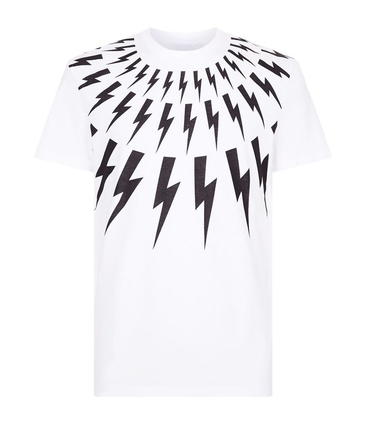 Neil Barrett Lightning Bolt T-Shirt, White. £ 180.00 #NeilBarrett #mensfashion #malefashion #menswear #tshirt http://www.harrods.com/product/lightning-bolt-t-shirt//brand/neil-barrett/000000000005218294?cat1=new-men&cat2=new-men-tshirts#