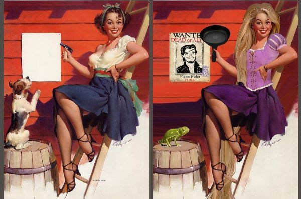 Így néznének ki szexi pin-up girl-ként a Disney hercegnők! / JOY.hu