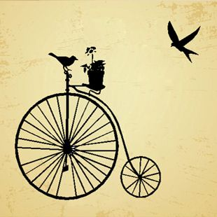 Vintage Bicycle Wall Sticker Living Room Bedroom Decor Mural Art Vinyl Wallpaper Home Decoration Decal W153