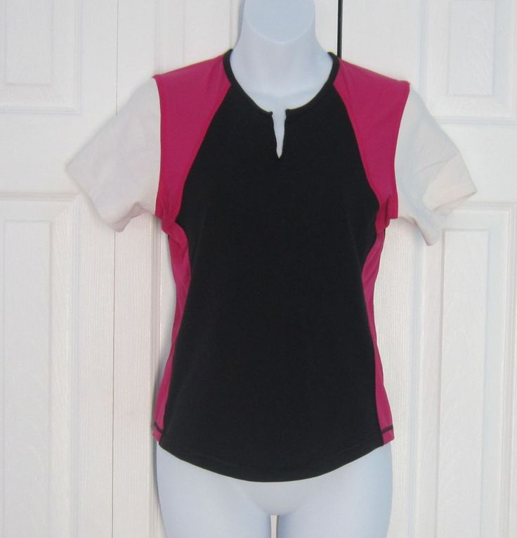Lululemon black white pink top shirt athletic running yoga sport 8 #Lululemon #ShirtsTops