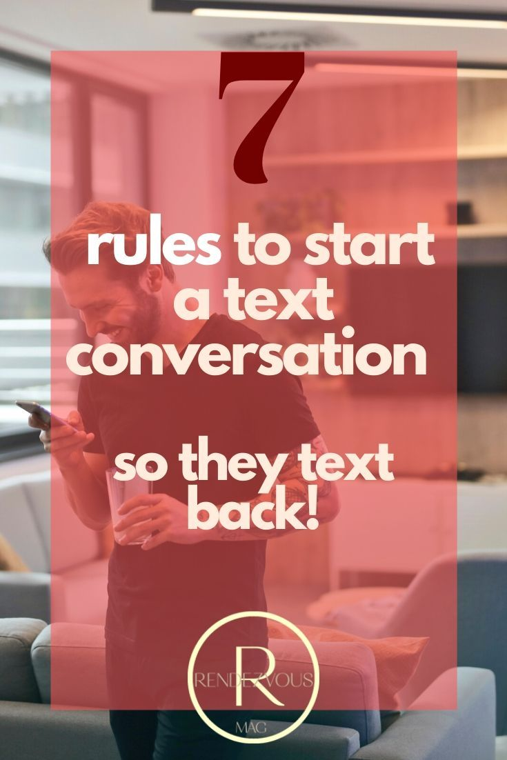 How to start a conversation over text that cant be