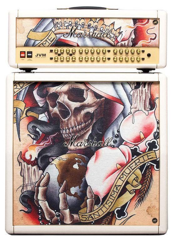 Marshall Tattoo Series Halfstack JVM410 Top & 1960A Box
