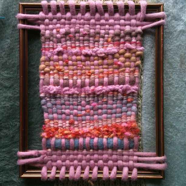 CRAFTY IDEAS FOR MEGALO WOOL - Weaving in a picture frame.