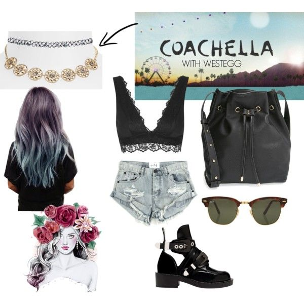 Coachella x Westegg by joyi-larasari on Polyvore featuring One Teaspoon, Topshop, Balenciaga, Street Level, Wet Seal and Rayban
