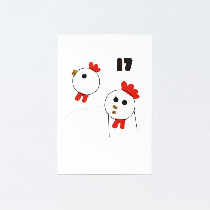 出自日本設計師們的2017雞年賀卡 | MyDesy 淘靈感