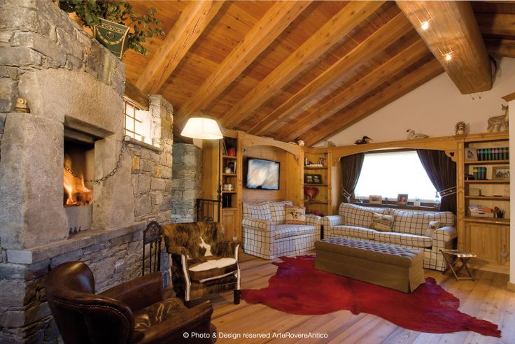 Arte Rovere Antico - Photo by Duilio Beltramone for Sgsm.it - Casa Bagni - Courmayeur Italy - Wood Interior Design