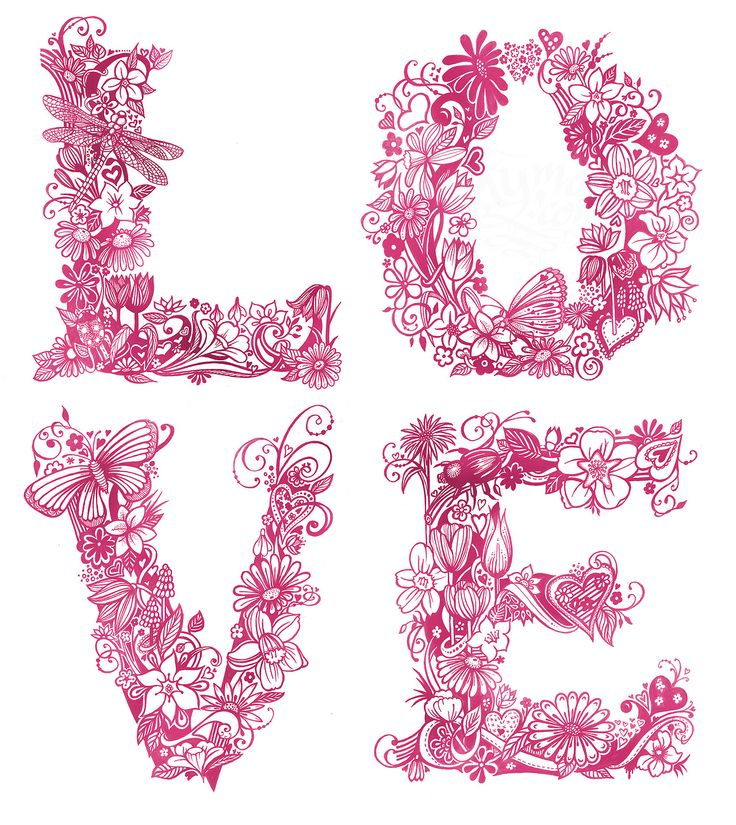 Love by inkymole #love #floral #quotes