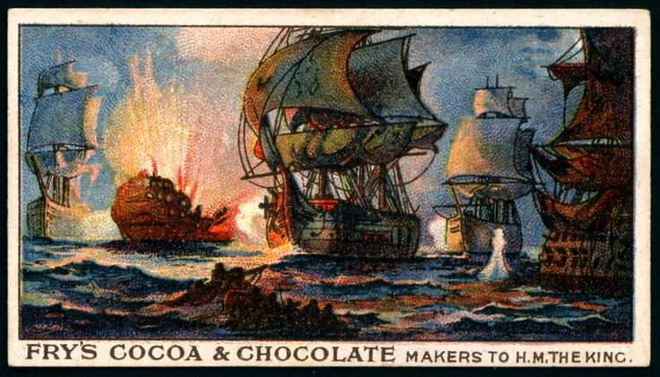 """Fry's Chocolate """"Days of Nelson"""" (series of 25 issued in 1906) #9 The Battle of the Nile, Aboukir Bay 1798"""
