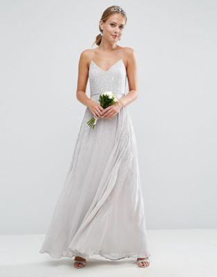 ASOS WEDDING Embellished Cami Maxi Dress