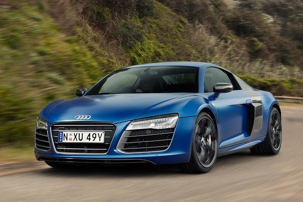 Naturally-aspirated Audi R8 V10 Plus.