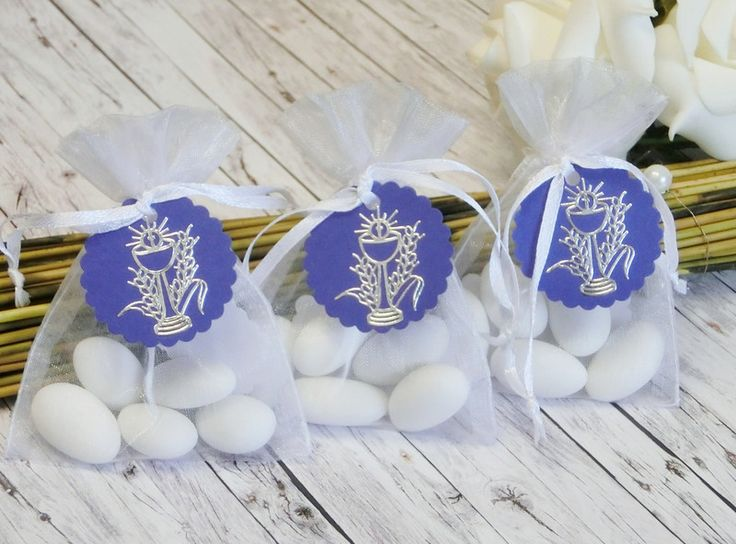Gastgeschenke - 10 Gastgeschenke Kommunion Konfirmation Ähre blau - ein Designerstück von Festtags-Shop bei DaWanda