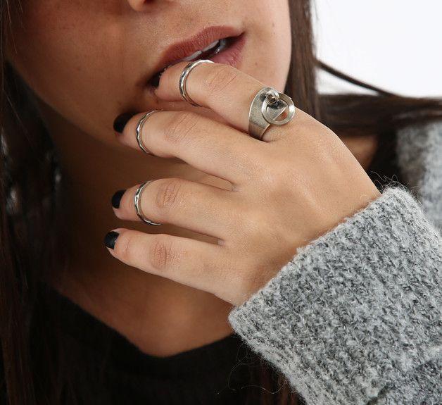 Rings – Silver Ring Set - Midi Ring Set – a unique product by galisjd on DaWanda