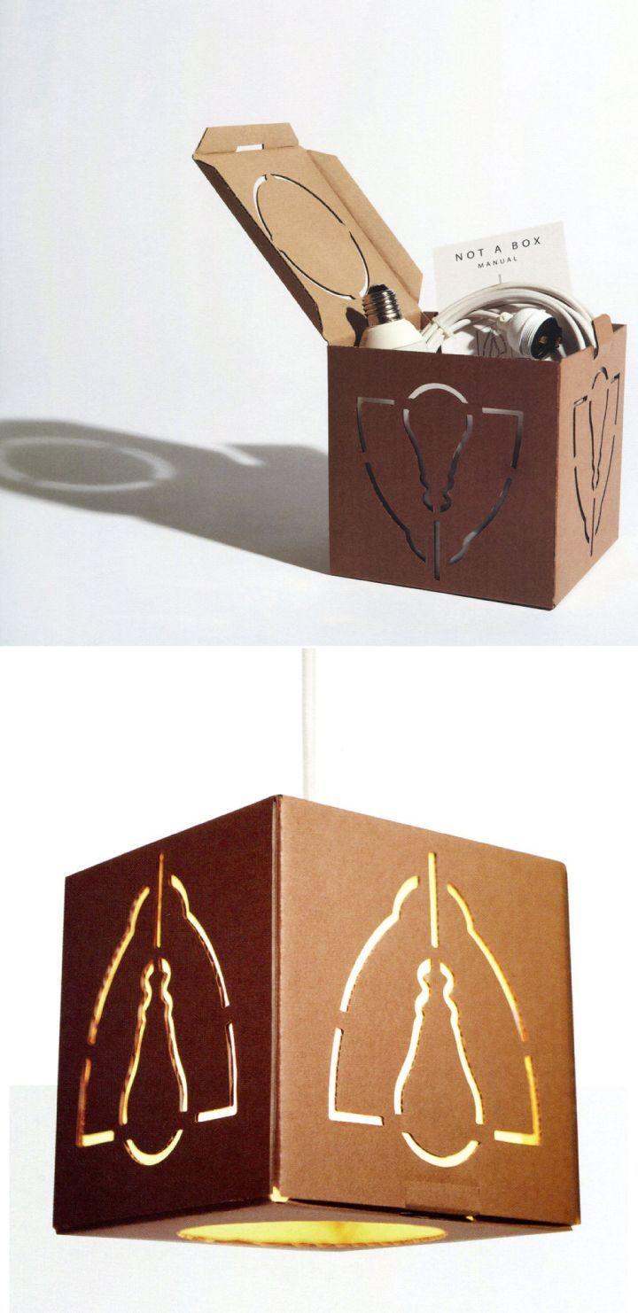 kraft paper package lamp package reused as lamp nest base for rh pinterest com