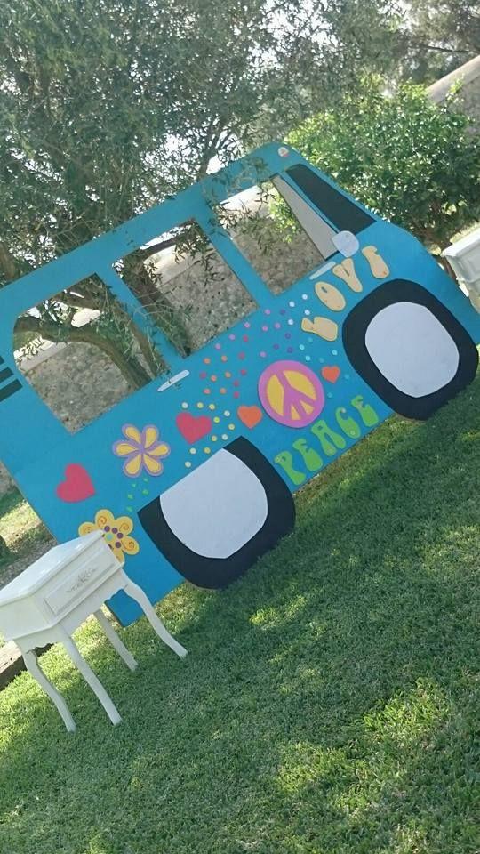 Transporta a tus invitados a los años 60 con este fácil tip hippie. #party #hippie
