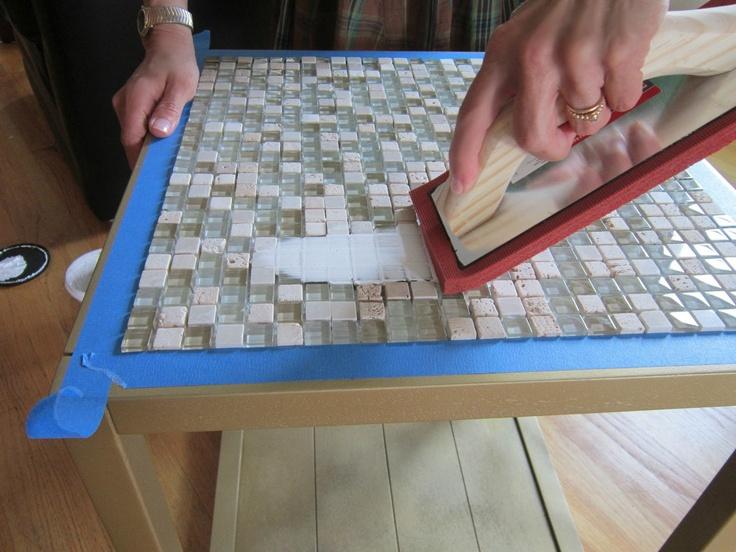 Tiled End Table Makeover – Guest Post by Design Megillah