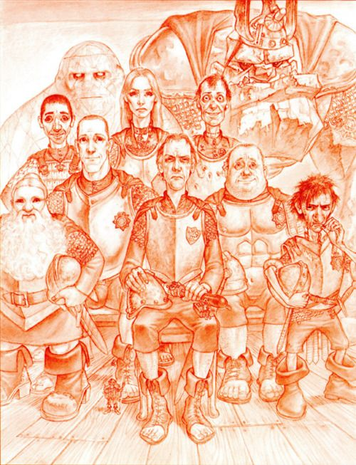 Ankh Morkpork City Watch from the Discworld Series by Terry Pratchett. I think they got Nobby and Fred Colon just right!