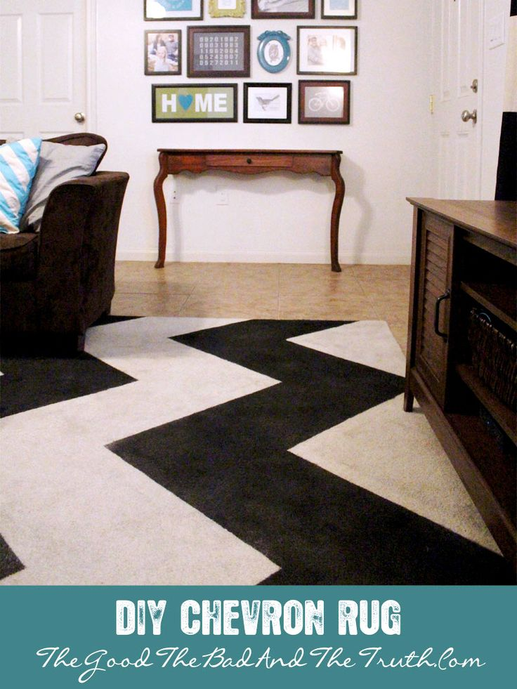 My living room rug has seen better days. I don't know what I was thinking when we bought a white rug! Well, actually, what I was thinking is that at the time we were living in a wood panele…