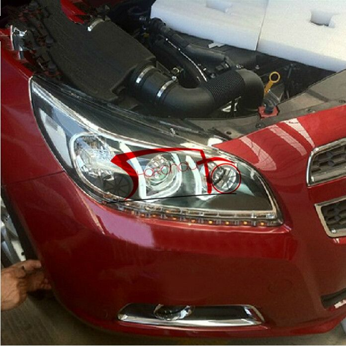 646.35$  Watch now - http://alicc8.worldwells.pw/go.php?t=32470868285 - Headlights With LED DRL And Bi-xenon Projector For Chevrolet Malibu 2011-2014 646.35$