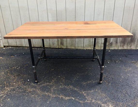 The Craftsman Farm Table Reclaimed Wood Dining Table Farmhouse Trestle Table  Industrial Table Bar Table Pub