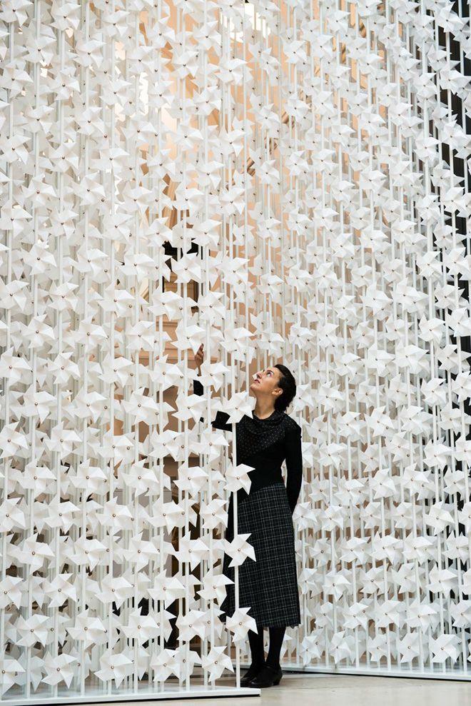 the wind portal installation by najla el zein at the va museum london design festival 2013