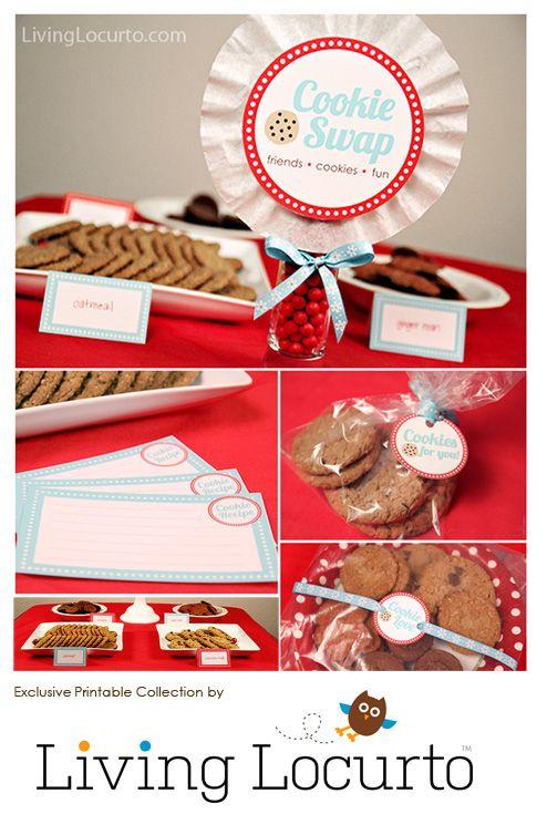 Christmas Cookie Exchange Invitations Free Printable